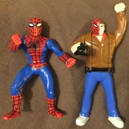 Action Figures Spiderman lot 1995 Bandai Mattell DC Marvel D