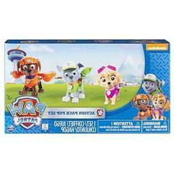Paw Patrol Action Pack Pups Figure Set, 3pk, Skye, Zuma, Roc