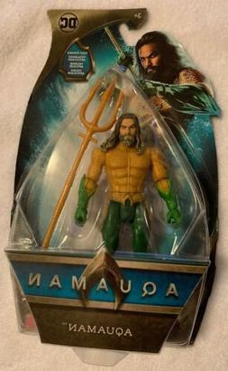 "AQUAMAN Jason Momoa 2018 Movie 6"" inch Mattel Action Figure,"