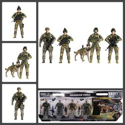 Army Rangers K9 Action Figures Toys With Weapons 14 Point Ar