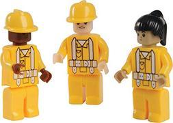 Assorted Construction Worker Interlocking Connecting Bricks