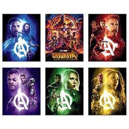 Avengers Infinity War Movie Poster Prints 8x10 - Set of Six