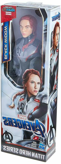 "Avengers Marvel Endgame Black Widow Titan Hero Power 12"" inc"