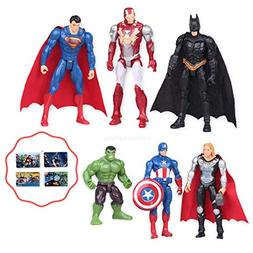 Avengers 6PCS Toy Play Figures Set | Cake Topper | Bonus Sti