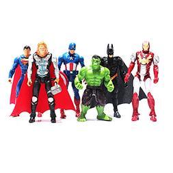 Avengers Toys Poseable Action Figure Set - 6 Pcs