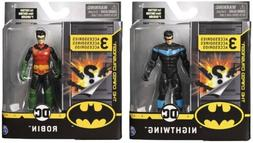 BATMAN 4-Inch Robin and Nightwing Action Figures with 6 Myst
