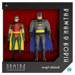 * BATMAN: TAS BATMAN AND ROBIN 5 1/2-INCH NJ CROCE BENDABLE