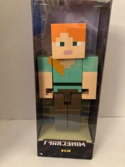 """BRAND NEW =  MINECRAFT ACTION FIGURE LARGE SCALE 8.5"""" = ALEX"""