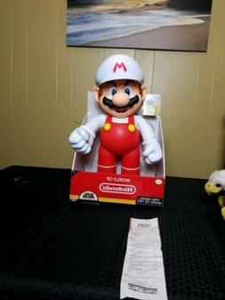 Brand New World of Nintendo 20 Inch Fire Mario Figure Super