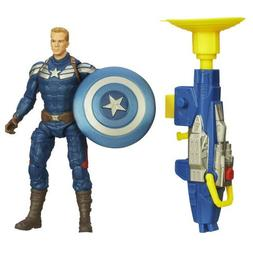 Captain America Super Soldier Gear Grapple Cannon Action Fig