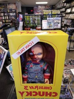 Child's Play 3 Pizza Face Chucky Talking Mega Scale 15 inch