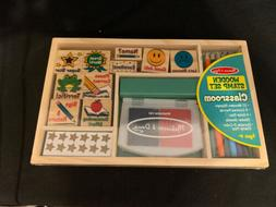 Melissa And Doug Classroom Wooden Stamp Set NEW Toys Kids Ar