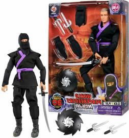 """Click N' Play 12"""" Inch Ninja Action Figure Play Set with Acc"""
