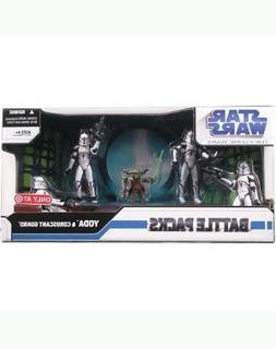 Star Wars Clone War Battle Pack - Yoda & Coruscant Guard 3.7