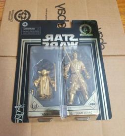 """Darth Maul & Yoda - Sealed 3.75"""" figure - Star Wars - Gold C"""