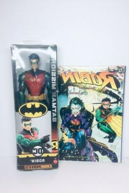 "DC Batman Missions True Moves ROBIN 12"" Inch Figure  Mattel"