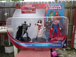 """DC Comics Justice League 4"""" Inch Figures 3 Pack  Batman Supe"""