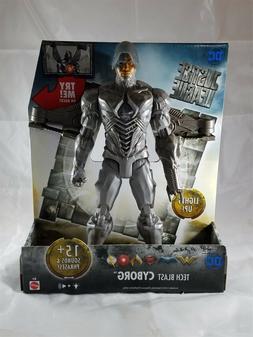 "Mattel DC Justice League Tech Blast Cyborg Figure 12"" NIP"