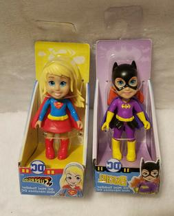 DC MINI TODDLER BATGIRL AND SUPERGIRL ACTION FIGURE DOLL