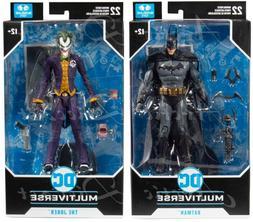 """McFarlane Toys DC Multiverse Arkham Asylum 7"""" Batman & Joker"""