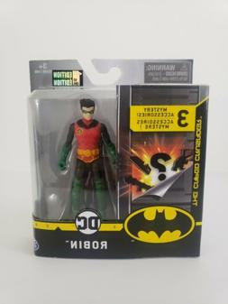 DC ROBIN 4 Inch Action Figure 1st Edition 3 Mystery Accessor