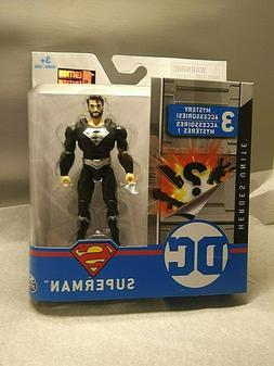 dc superman action figure black suit