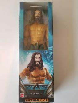 "DC True Moves Aquaman by Mattel - 11.5"" Life-like Posing Act"