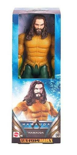 "DC True Moves Aquaman by Mattel - 11.5"" Life-like Posing Act"