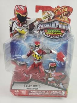 """Power Rangers Dino Super Charge Dino Steel Red Ranger 5"""" in"""