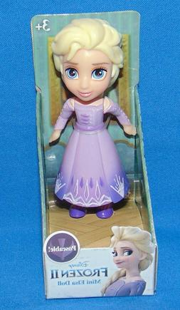 "Disney Princess Frozen II MINI ELSA Purple Fringe *MIB* 3"" 2"