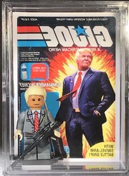 Donald Trump Custom G.i. Joe Mini Action Figure w Display Ca