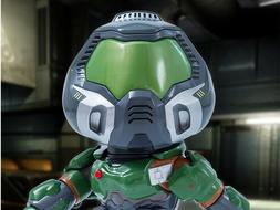 "Doom Doomguy Action Figure PVC 9"" Collectibles Gaming Heads"