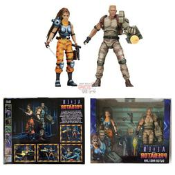 "DUTCH & LINN 2 PACK Neca ALIEN vs PREDATOR ARCADE 2019 7"" In"