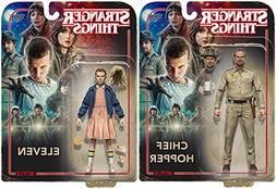 Stranger Things 7-Inch Eleven and Chief Hopper Action Figure