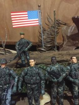 Bbi Elite Force 1:18 figures LOT OF 5 WITH Extras See Pictur