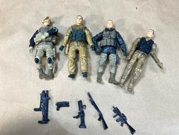 BBI Elite Force 4 Action Figure Lot Special Forces 3 3/4 3.7