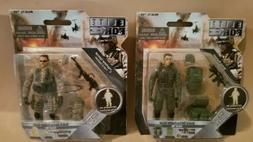 BBi Elite Force Action Figures Army Ranger Paratrooper & Mar