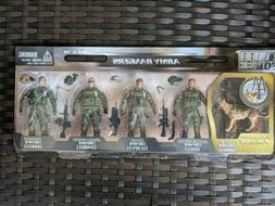 Elite Force Army Rangers 4 1/2 Inch Action Figures With Dog