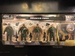 Elite Force Army Rangers Set of 5 by bbi with Exclusive K9 H