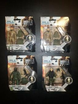 """Elite Force Lot  2 Snakes, LT, Stalker 3.75"""" Action Figures"""