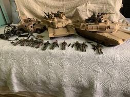 Elite Force M1A2 Battle Tanks, Vehicle And Figures Lot.