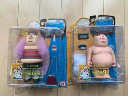 MEZCO FAMILY GUY 2 Peter Griffin Action Figures In The Buff