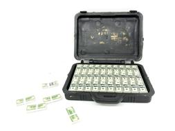 FIG-BC: 1/12 scale Toy Briefcase with US Money Cash Bills fo