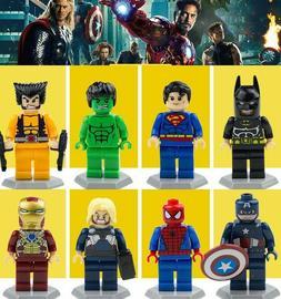 8pcs Lego minifigures Marvel Super Heroes Avengers Custom DC