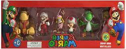 """2"""" Figure 6 Pack Complete Set, Super Mario from Nintendo, NI"""