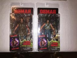 """NECA First Blood Rambo 7"""" action figure SET MINT on MINT car"""