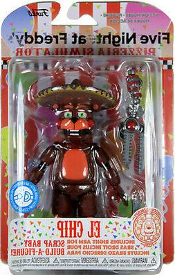 """Five Nights at Freddy's ~ 5"""" EL CHIP ACTION FIGURE ~ Pizzeri"""