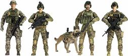 Force Army Rangers 5 Pack Figures Toy Military 1:18 Role Pla