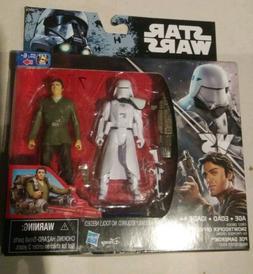 Star Wars The Force Awakens Poe Dameron & First Order Snowtr