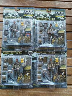Four 1/18 Scale BBI Elite Forces WWII Rare Airborne Soldier